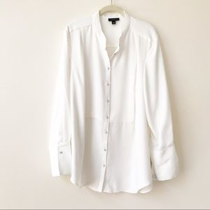 Victoria Beckham Target White Tuxedo Blouse 2X